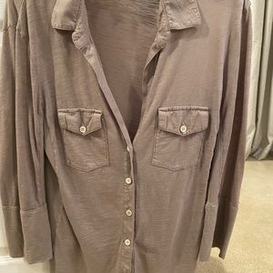 James Perse Cotton Camp Shirt Size 3